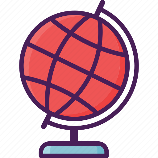 earth, globe, map, navigate, planet, relief, scale model icon