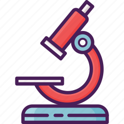 biological, glass, lenses, micro, microscope, optical icon