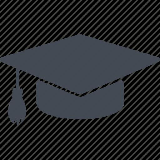 cap, education, headdress, study icon