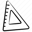 geometrical tools, protector, ruler, measurement ruler, slide ruler icon