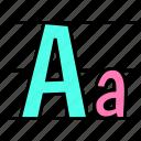 calligraphy, letter, alphabet, handwriting icon