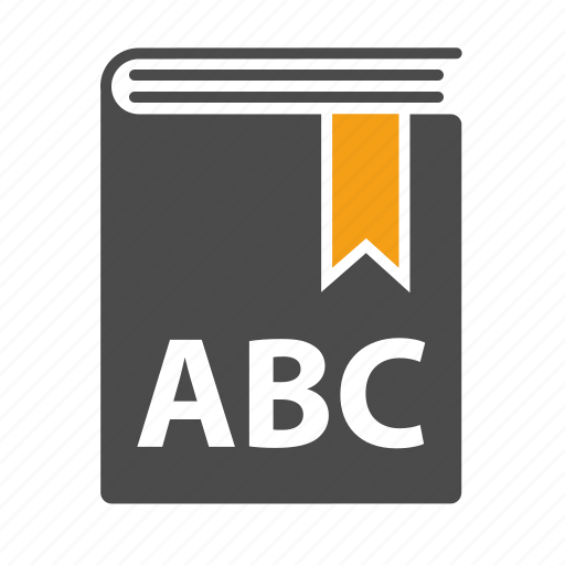 abc, alphabet, book, bookmark, education, reading, school, study icon