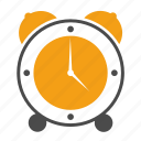alarm clock, clock, education, schedule, school, timer, watch icon