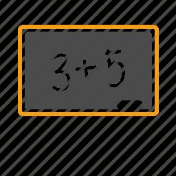 blackboard, calculation, education, learning, math, school, study icon