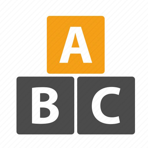 abc, blocks, education, kindergarten, learning, letters, pre-school, preschool, study icon