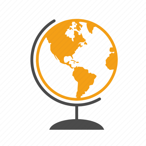 earth, education, geography, globe, location, planet, school, study icon
