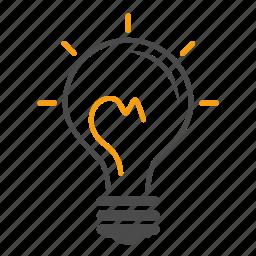Creativeness Education Idea Lamp Light Bulb Power Study Icon