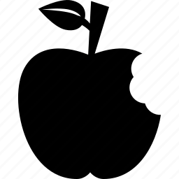 apple, bite, fruit, gift, healthy, school, teacher icon
