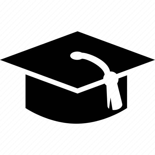 academia, cap, graduate, graduation, school icon