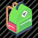 backpack, knapsack, rucksack, school bag, bag icon