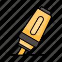 education, highlighter, marker, undeline, stationary