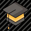 education, graduation hat, bachelor cap, graduate, study, learning