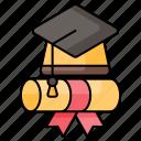 education, diploma, graduation, graduation hat, bachelor hat, learning