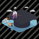 education, student, loan, finance, drowning, financial