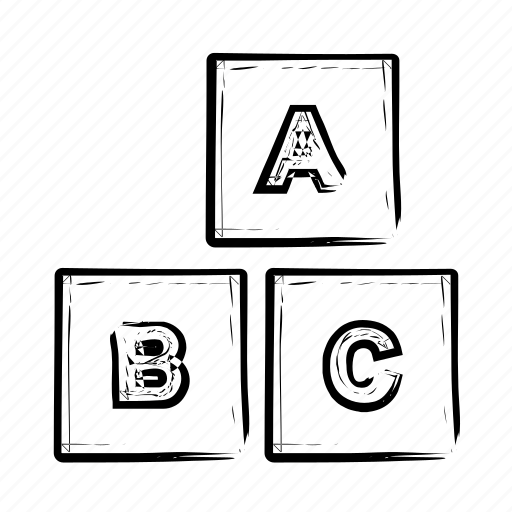 alphabet, box, boxes, child, cube, cubes, education, english icon icon