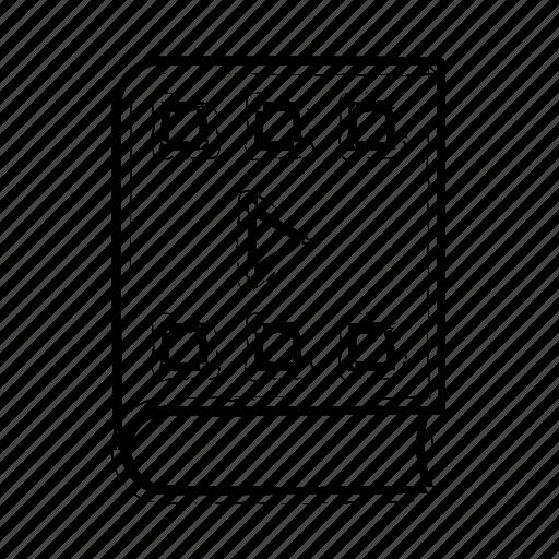 audio, book, play, run, text, video icon