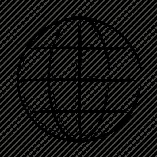 circular, circular grid, earth globe, globe, grid icon