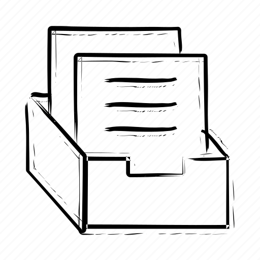 archive, box, document, file, office material icon