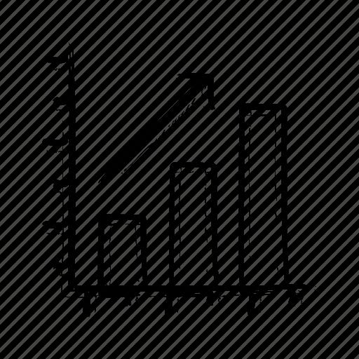 financial, graph, market, stock, success icon icon