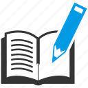 book, education, pen, pencil, tools, writing icon