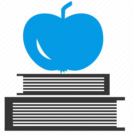 apple, book, books, education, fruit, reading, studying icon
