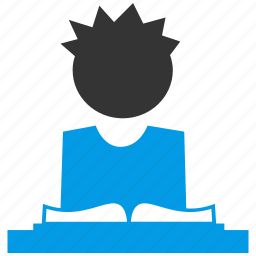 book, boy, education, learn, reading, student, study icon