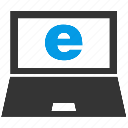 browser, computer, education, laptop, materials, monitor, screen icon
