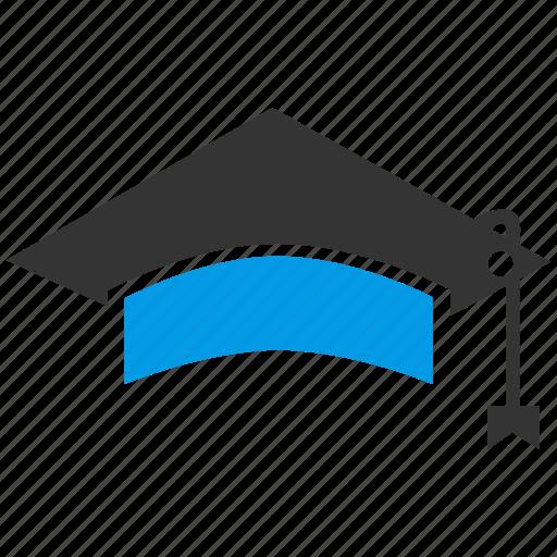 cap, education, graduation, hat, student icon