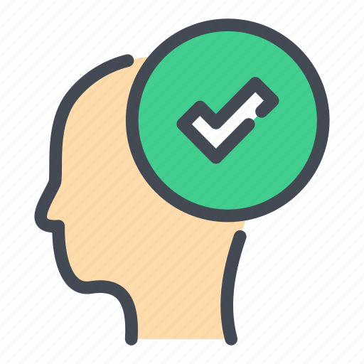 Check, done, head, mark, mind, ok, think icon - Download on Iconfinder