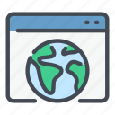earth, globe, internet, online, web, website, worldwide icon