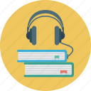 audio, book, books, headphones, learning icon