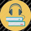 audio, book, books, headphones, learning icon