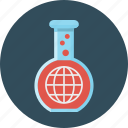 chemical, globe, laboratory, test, tube icon