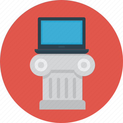 column, education, laptop, learning, notebook icon