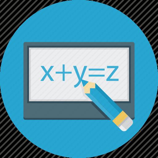 formula, pensil, tablet icon
