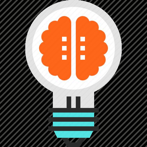 Brain, brainstorm, bulb, creativity, idea, imagination, light icon - Download on Iconfinder