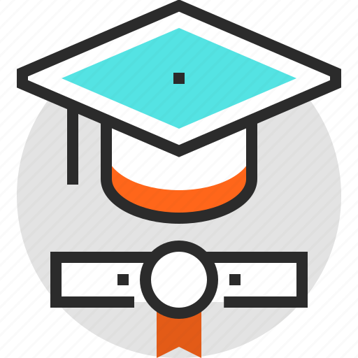 Degree, diploma, education, graduation, hat, knowledge, student icon - Download on Iconfinder