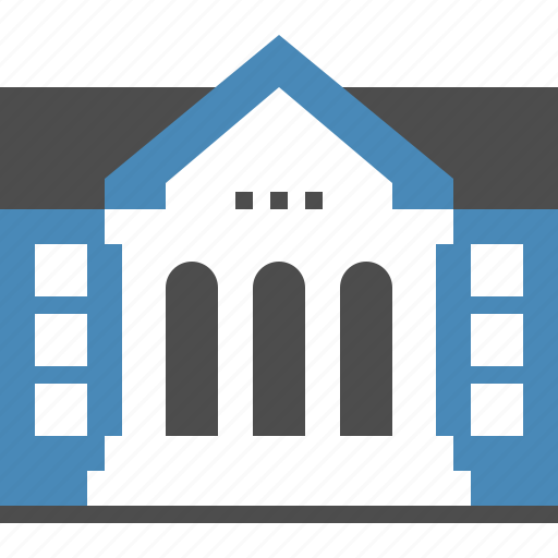 building, college, education, knowledge, learning, school, university icon