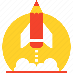 astronomy, education, knowledge, research, rocket, spaceship, startup icon