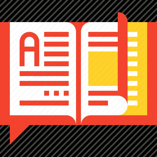 book, education, knowledge, lesson, literature, read, study icon