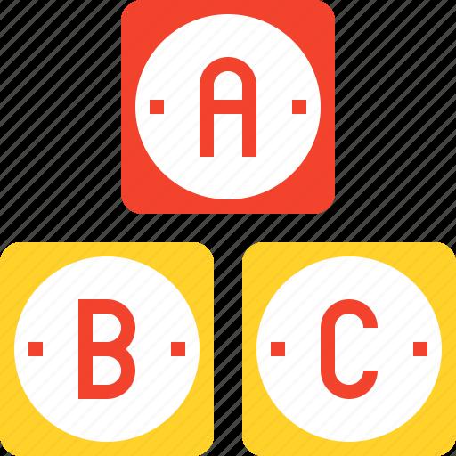 abc, alphabet, basic, grade, knoledge, read, school icon