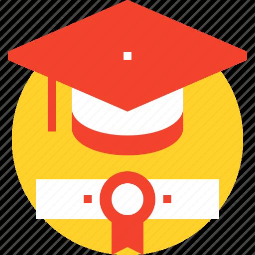 degree, diploma, education, graduation, hat, knowledge, student icon