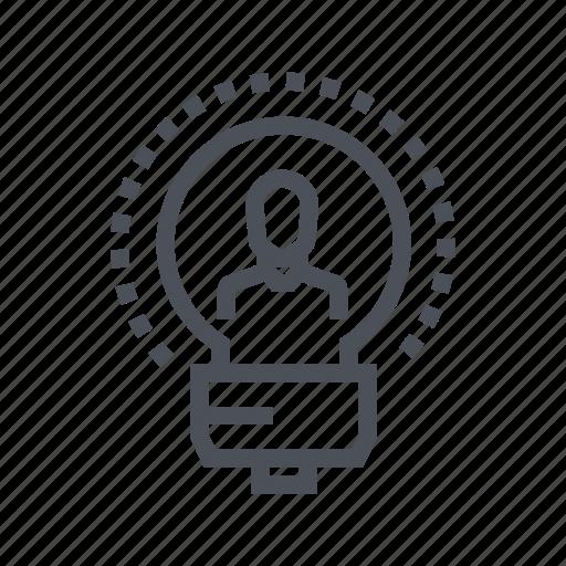 bulb, creative, design, idea, teaching icon