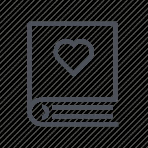 bookmark, favorite, favorites, lesson, like, love icon
