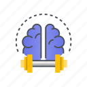 brain, idea, thinking, training, traning icon