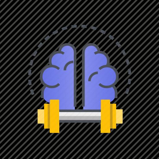 brain, idea, thinking, training, traning icon