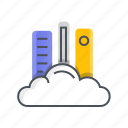 cloud, computing, internet, library, online icon