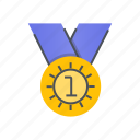 achievement, award, badge, medal, winner icon