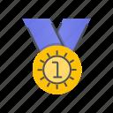 medal, achievement, award, badge, winner
