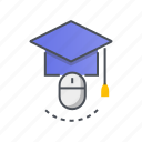 education, internet, learning, online, school icon